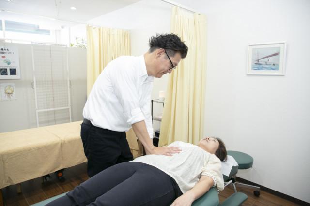 内臓の施術写真