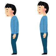 良い姿勢と悪い姿勢のイラスト