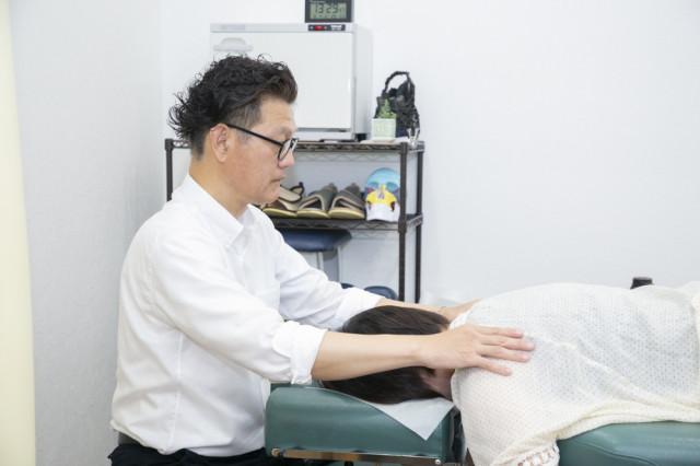 肩の施術写真