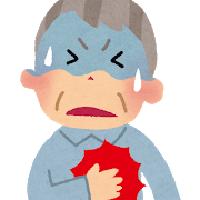 心筋梗塞の男性イラスト