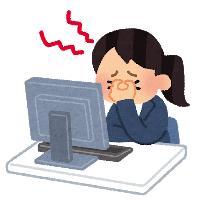 片頭痛の女性のイラスト