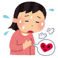 動悸の女性イラスト