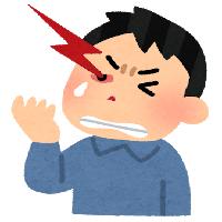 群発頭痛の男性のイラスト