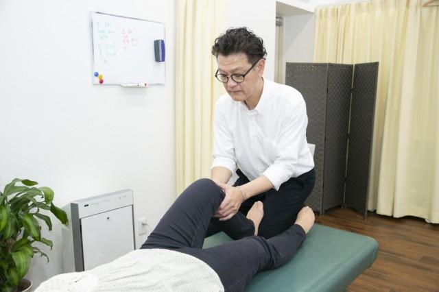 膝の施術写真