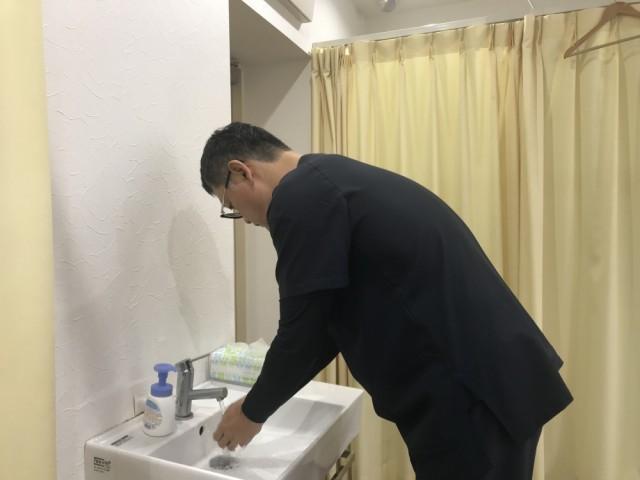 手洗いの写真
